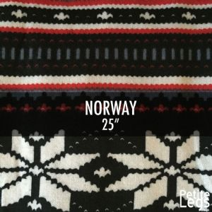 Choose Your Pattern Collection: Norway. Cosy Knit Print Leggings | Fits UK Sizes 8 - 12/14 | Petite Leg Inseams 25 Inches